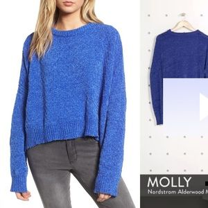 Woven Hearts Chenille sweater